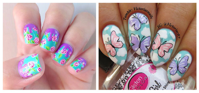 Nail art is one of the most trendiest fashion that we have from the last  couple of years and the popularity you know has never been gone down the  debris, ... - 30+ Floral Nail Art Designs & Ideas 2018 Spring Nails Modern
