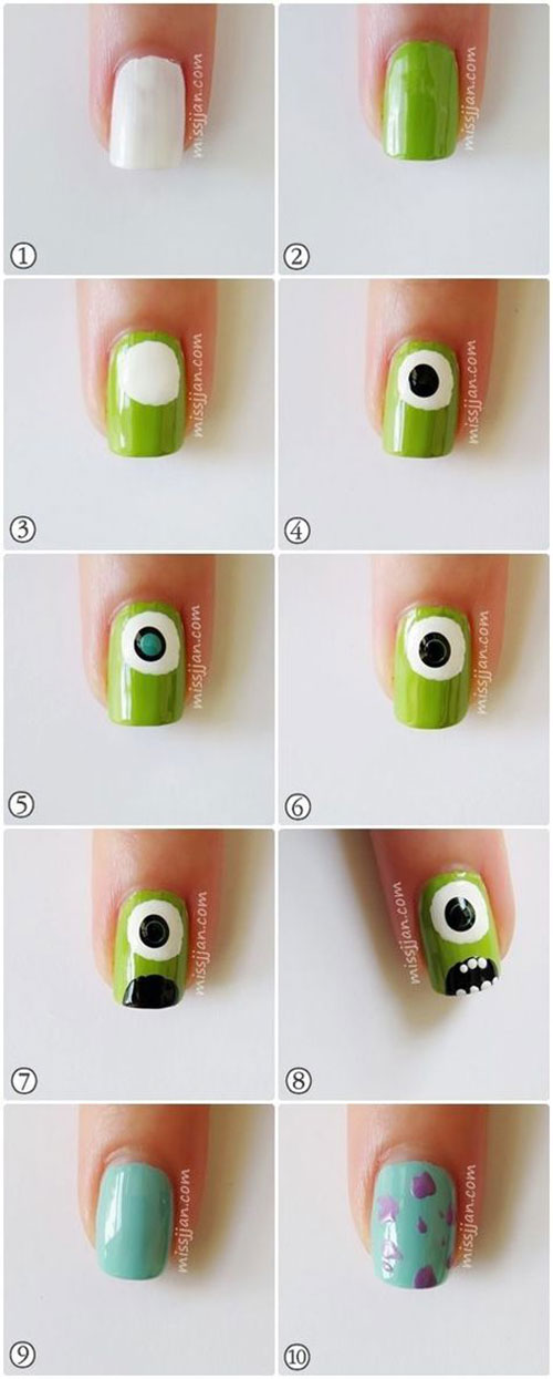 10-Awesome-Step-By-Step-Halloween-Nails-Art-Tutorials-For-Beginners-2018-1