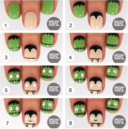 10-Awesome-Step-By-Step-Halloween-Nails-Art-Tutorials-For-Beginners-2018-2