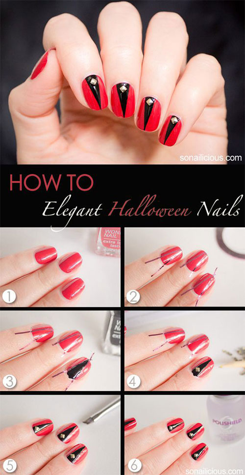 10-Awesome-Step-By-Step-Halloween-Nails-Art-Tutorials-For-Beginners-2018-4