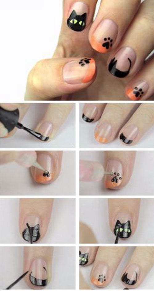 10-Awesome-Step-By-Step-Halloween-Nails-Art-Tutorials-For-Beginners-2018-5