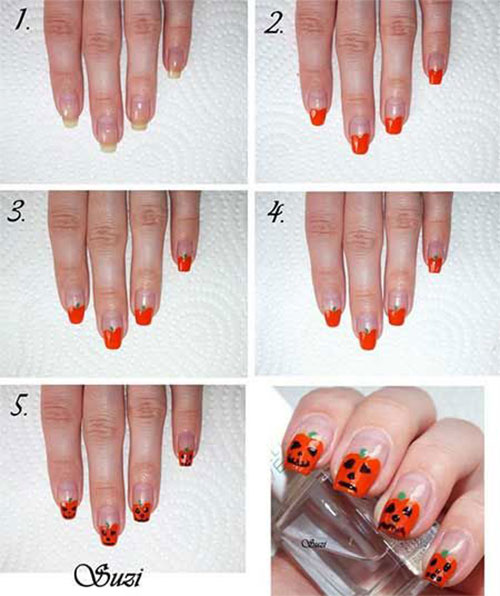 10-Awesome-Step-By-Step-Halloween-Nails-Art-Tutorials-For-Beginners-2018-6