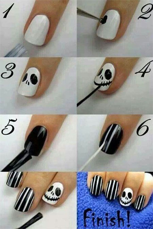 10-Awesome-Step-By-Step-Halloween-Nails-Art-Tutorials-For-Beginners-2018-7