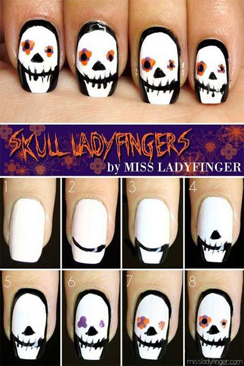 10-Awesome-Step-By-Step-Halloween-Nails-Art-Tutorials-For-Beginners-2018-8