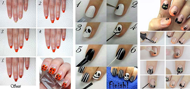10+ Awesome Step By Step Halloween Nails Art Tutorials For Beginners ...