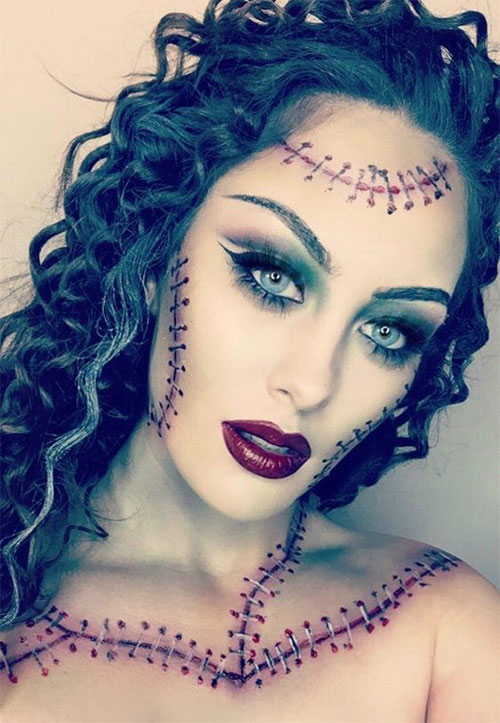 12-Scary-Halloween-Corpse-Bride-Makeup-Ideas-For-Girls-Women-2018-13