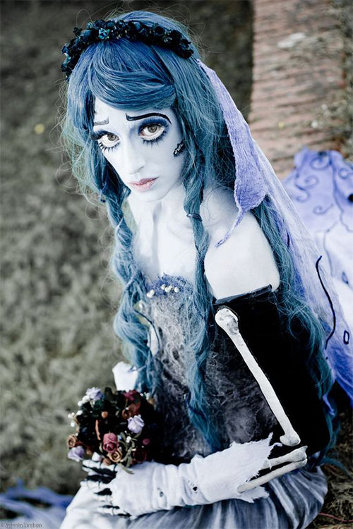 12-Scary-Halloween-Corpse-Bride-Makeup-Ideas-For-Girls-Women-2018-7