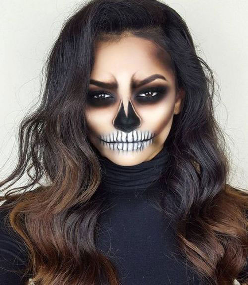 15-Creepy-Halloween-Skull-Make-Up-Looks-For-Girls-Women-2018-12