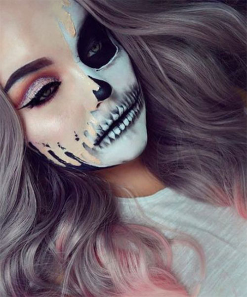 15-Creepy-Halloween-Skull-Make-Up-Looks-For-Girls-Women-2018-14
