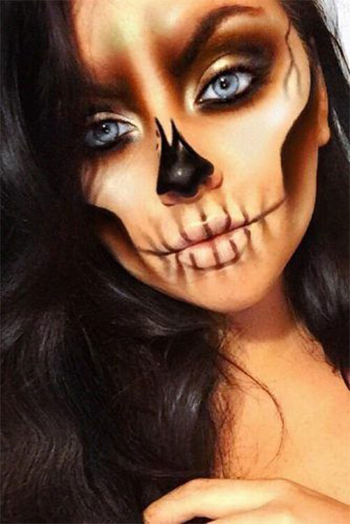 15-Creepy-Halloween-Skull-Make-Up-Looks-For-Girls-Women-2018-5