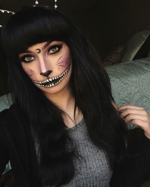 15-Halloween-Cat-Face-Makeup-Ideas-For-Girls-Women-2018-11