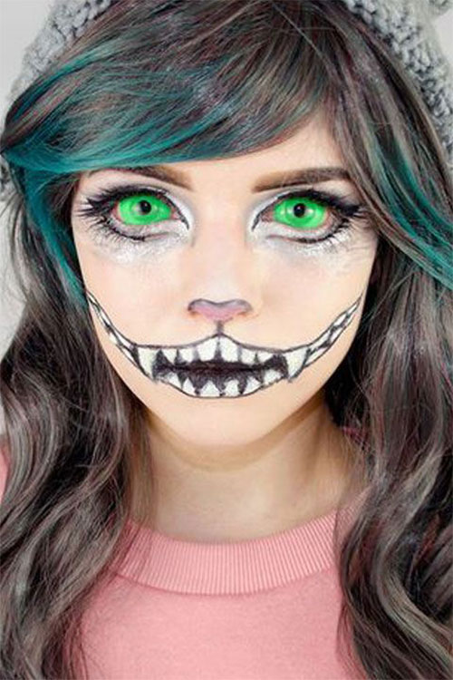 15-Halloween-Cat-Face-Makeup-Ideas-For-Girls-Women-2018-13
