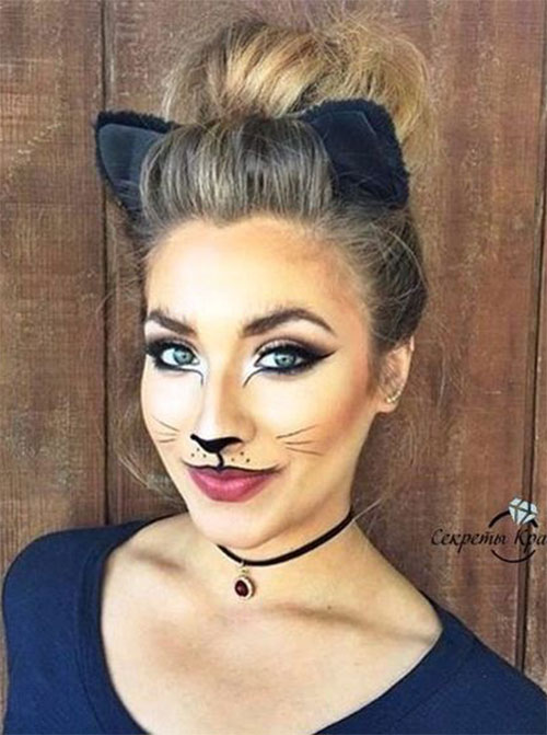 15-Halloween-Cat-Face-Makeup-Ideas-For-Girls-Women-2018-16