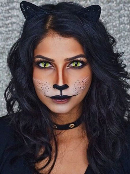 15-Halloween-Cat-Face-Makeup-Ideas-For-Girls-Women-2018-2