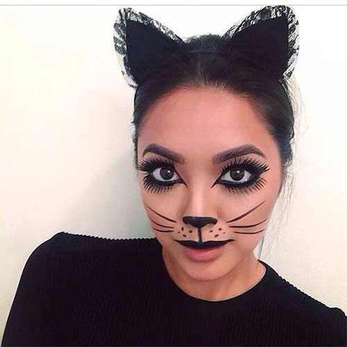15-Halloween-Cat-Face-Makeup-Ideas-For-Girls-Women-2018-4