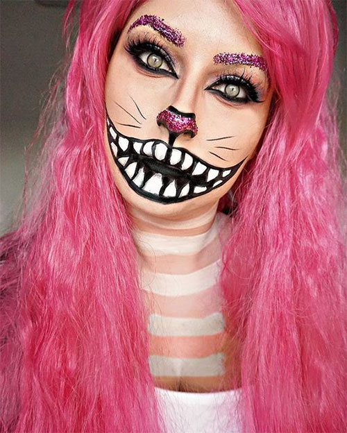 15-Halloween-Cat-Face-Makeup-Ideas-For-Girls-Women-2018-5