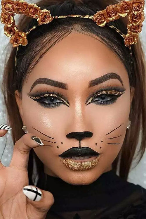 15-Halloween-Cat-Face-Makeup-Ideas-For-Girls-Women-2018-6
