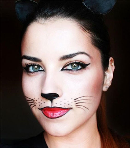 15-Halloween-Cat-Face-Makeup-Ideas-For-Girls-Women-2018-7