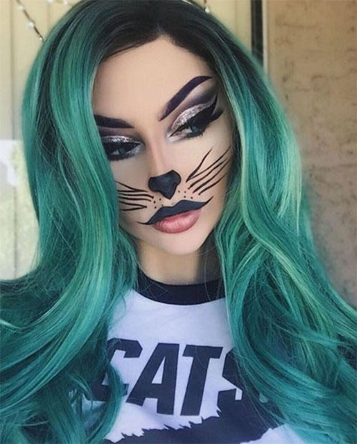 15-Halloween-Cat-Face-Makeup-Ideas-For-Girls-Women-2018-9