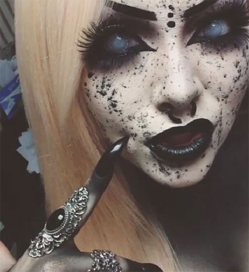 15-Witch-Halloween-Make-Up-Looks-For-Girls-Women-2018-4
