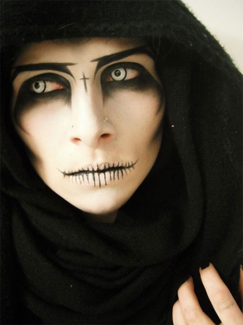 15-Witch-Halloween-Make-Up-Looks-For-Girls-Women-2018-5