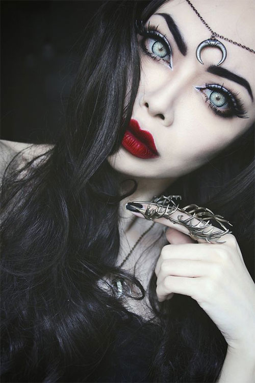 15-Witch-Halloween-Make-Up-Looks-For-Girls-Women-2018-7