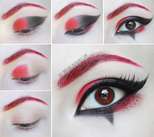 18 easy step by step halloween makeup tutorials