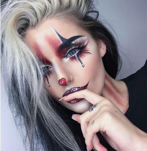 20-Halloween-Clown-Makeup-Ideas-For-Girls-Women-2018-12