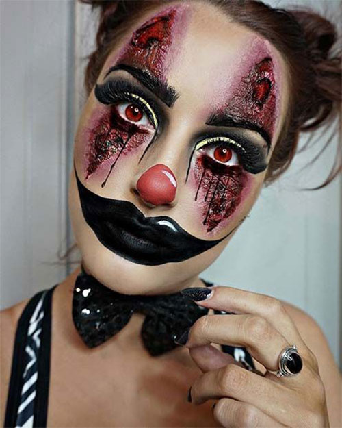 20-Halloween-Clown-Makeup-Ideas-For-Girls-Women-2018-13