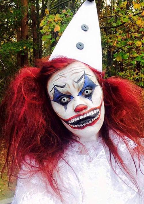 20-Halloween-Clown-Makeup-Ideas-For-Girls-Women-2018-14