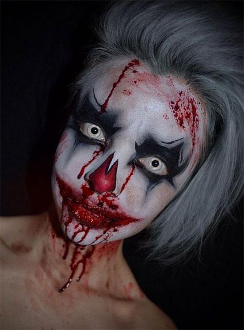 20-Halloween-Clown-Makeup-Ideas-For-Girls-Women-2018-16