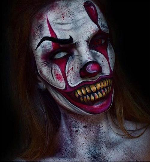 20-Halloween-Clown-Makeup-Ideas-For-Girls-Women-2018-2