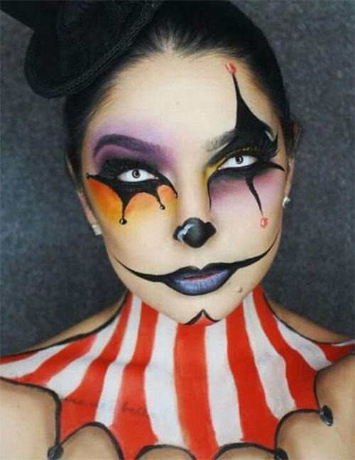20-Halloween-Clown-Makeup-Ideas-For-Girls-Women-2018-3