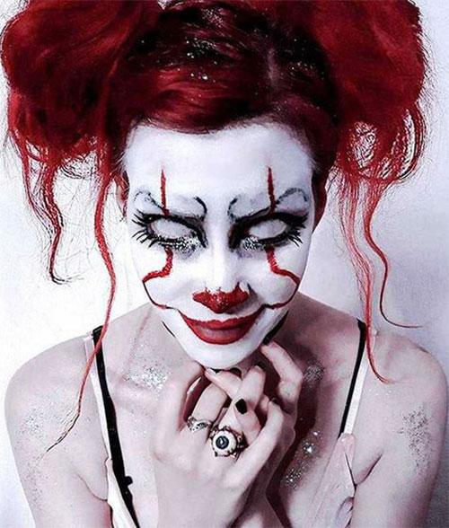 20-Halloween-Clown-Makeup-Ideas-For-Girls-Women-2018-4