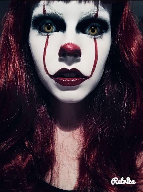 20-Halloween-Clown-Makeup-Ideas-For-Girls-Women-2018-5