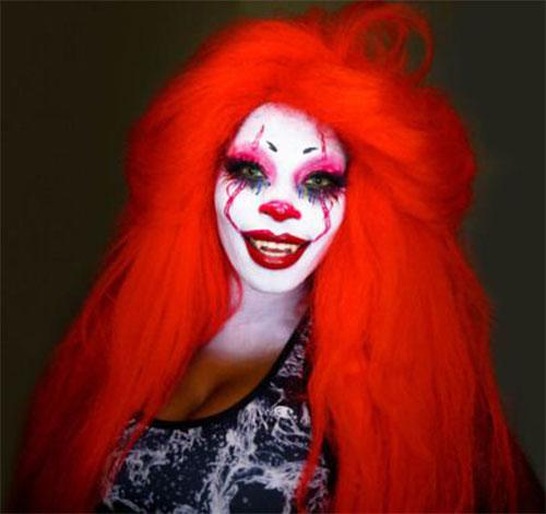 20-Halloween-Clown-Makeup-Ideas-For-Girls-Women-2018-7