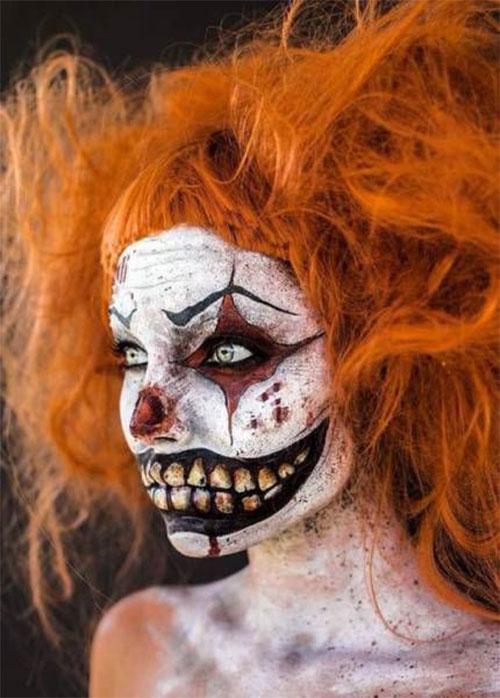 20-Halloween-Clown-Makeup-Ideas-For-Girls-Women-2018-9