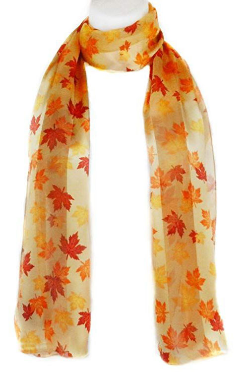 15-Autumn-Leaves-Scarves-For-Girls-Women-2018-Scarf-Collection-12
