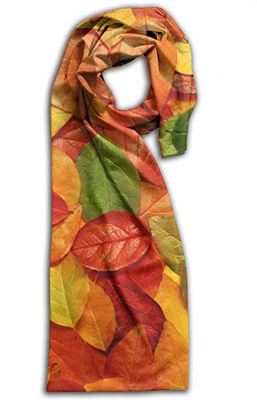 15-Autumn-Leaves-Scarves-For-Girls-Women-2018-Scarf-Collection-8