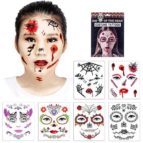 15-Scary-Fake-Temporary-Halloween-Tattoos-2018-4