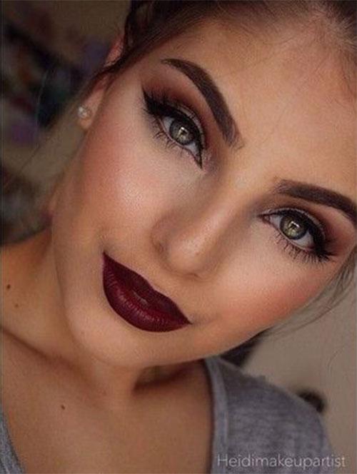 18-Autumn-Face-Makeup-Looks-Trends-Ideas-For-Girls-Women-2018-10