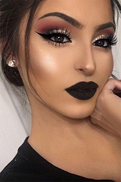 18-Autumn-Face-Makeup-Looks-Trends-Ideas-For-Girls-Women-2018-11