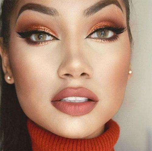 18-Autumn-Face-Makeup-Looks-Trends-Ideas-For-Girls-Women-2018-13