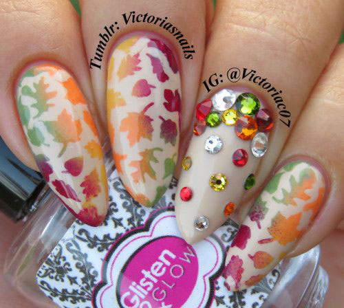 20-Best-Autumn-Nails-Art-Designs-Ideas-2018-5