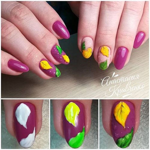 Step-By-Step-Autumn-Nail-Art-Tutorials-For-Learners-2018-2