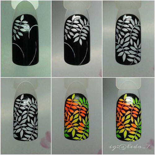 Step-By-Step-Autumn-Nail-Art-Tutorials-For-Learners-2018-3