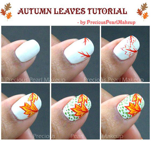 Step-By-Step-Autumn-Nail-Art-Tutorials-For-Learners-2018-4
