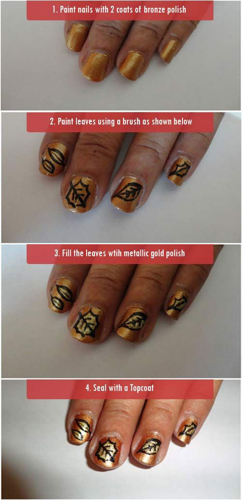 Step-By-Step-Autumn-Nail-Art-Tutorials-For-Learners-2018-8
