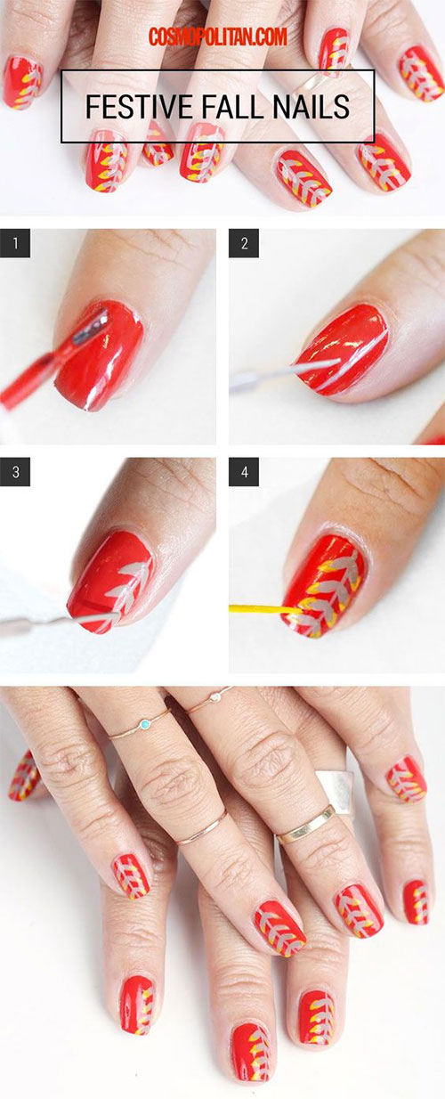 Step-By-Step-Autumn-Nail-Art-Tutorials-For-Learners-2018-9