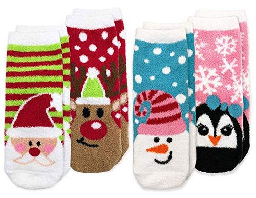 15-Christmas-Fuzzy-Socks-For-Kids-Girls-Women-2018-9